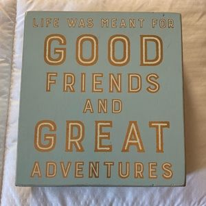 Small Friends/Travel Plaque
